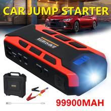 99900mah carro ir para iniciantes carro buster 12v veículo bateria de emergência impulsionador automático bateria banco de potência poderoso led luz