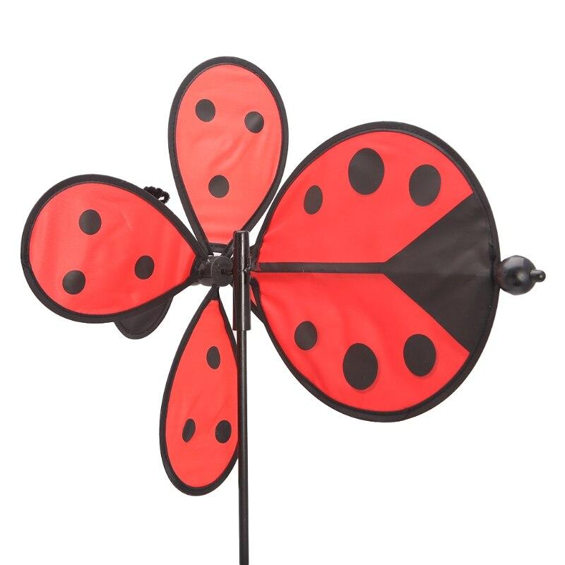Bee Ladybug Windmill Whirligig Wind Spinner Home Yard Garden Decor Kids Toys