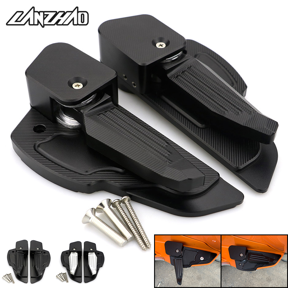 Motorcycle Foot Steps Footrest Catapult pedal CNC Aluminum Accessories for  Vespa Sprint Primavera 10 10 - 10 10 10 10