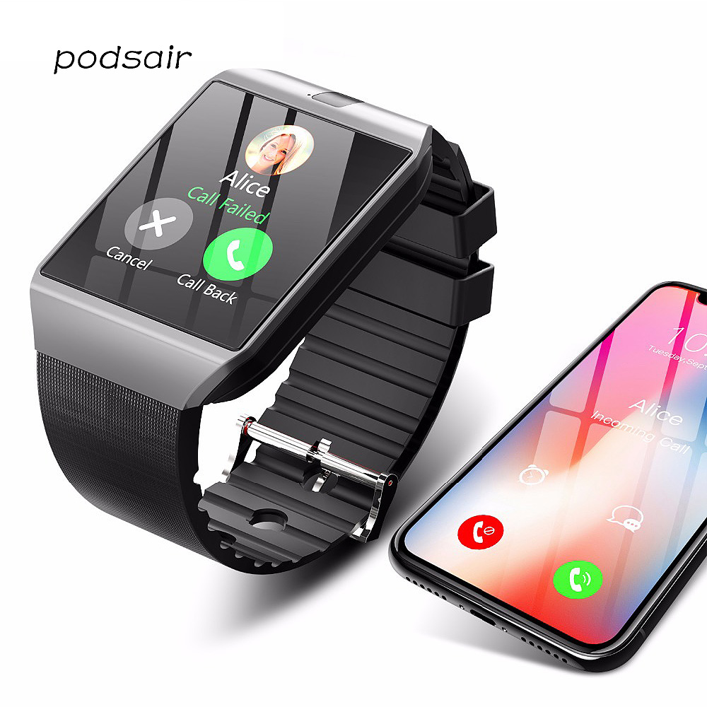 Bluetooth <font><b>Smart</b></font> <font><b>Watch</b></font> DZ09 for Apple <font><b>Watch</b></font> with Camera 2G SIM TF Card Slot Smartwatch <font><b>Phone</b></font> for Android IPhone Xiaomi Russia T15 image