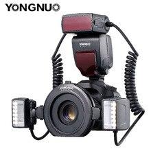 YONGNUO YN24EX YN24 EX Macro Ring แฟลช E TTL แฟลช SPEEDLITE 2 ชิ้นหัวแฟลช 4pcs แหวนอะแดปเตอร์สำหรับกล้อง Canon EOS