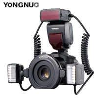 YONGNUO YN24EX YN24 EX anillo Macro Flash E-TTL Flash Speedlite con 2 piezas cabezas de Flash, 4 piezas de anillos para canon EOS cámaras