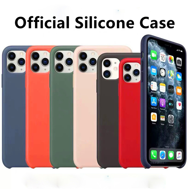 Luxury original <font><b>Silicone</b></font> Phone <font><b>Case</b></font> For iPhone7 8 6 <font><b>6s</b></font> Plus XR X XS Max Luxury <font><b>Cases</b></font> For Apple <font><b>iPhone</b></font> 11 Pro Max 7 Plus with Box image