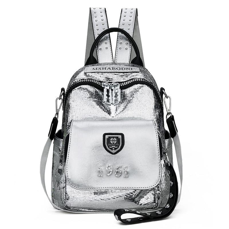 Backpack Women's 2020 New Fashion Korean Style All-match Fashion Small Fresh Pu Soft Leather Mini Bag Multi-Purpose Women's Back