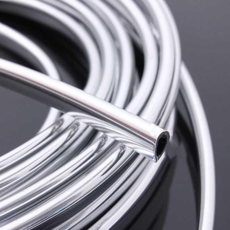 20FT كروم صب قطاع قطاع باب السيارة حافة خدش الحرس حامي غطاء الفضة