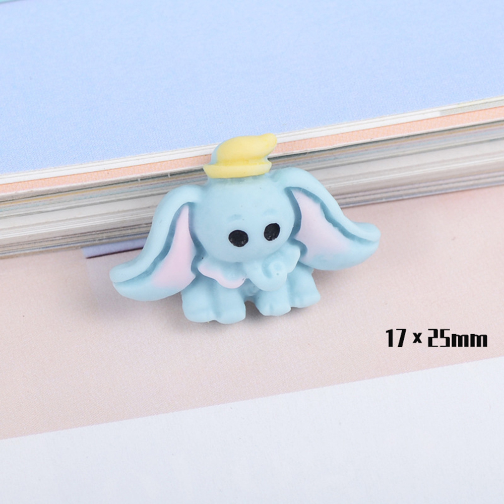 10 Pcs Resin Simulation Cartoon Animal Slime Clay Charm Filling Accessories Kids Toy Earring Hair Ring Handmade DIY Accessories