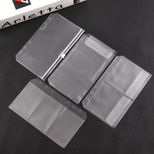 10pcs A6 PVC Binder Folder 6Holes Loose Leaf PVC Zip Bag Notebook Planner Collection Pouch Bag Self-Styled Zipper Waterproof Bag