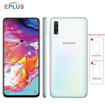 Купить Новый оригинальный 6,7 дюймовый мобильный телефон samsung Galaxy A70 A7050 4500 мАч 8 ГБ ОЗУ 128 Гб ПЗУ восьмиядерный смартфон Snapdragon 675 NFC 4G