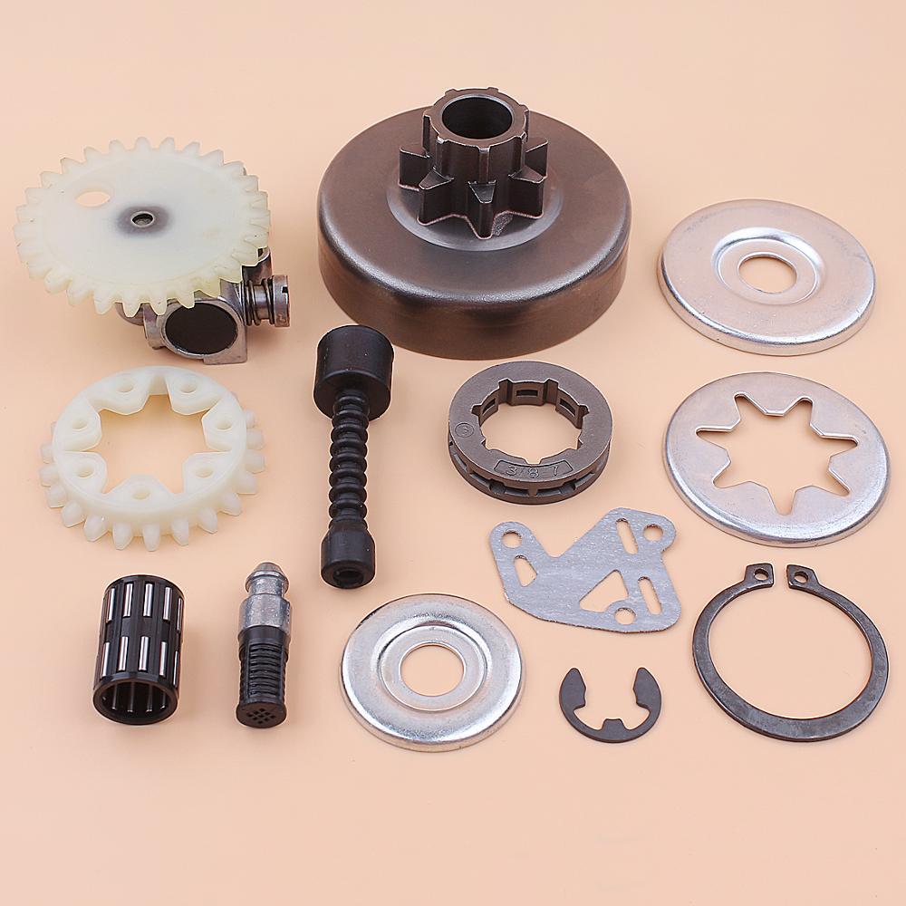 3 8inch Clutch Drum Sprocket Rim Oil Pump Filter Line Washer Repair Kit For Stihl MS380 038 1119 0007 1003 1119 640 3200