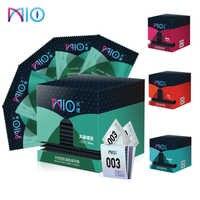Mio 60/14 pçs linha preservativos 4 estilos rosa padrão adulto produtos de sexo ultra fino natural látex preservativos para o sexo masculino brinquedos loja de ferramentas