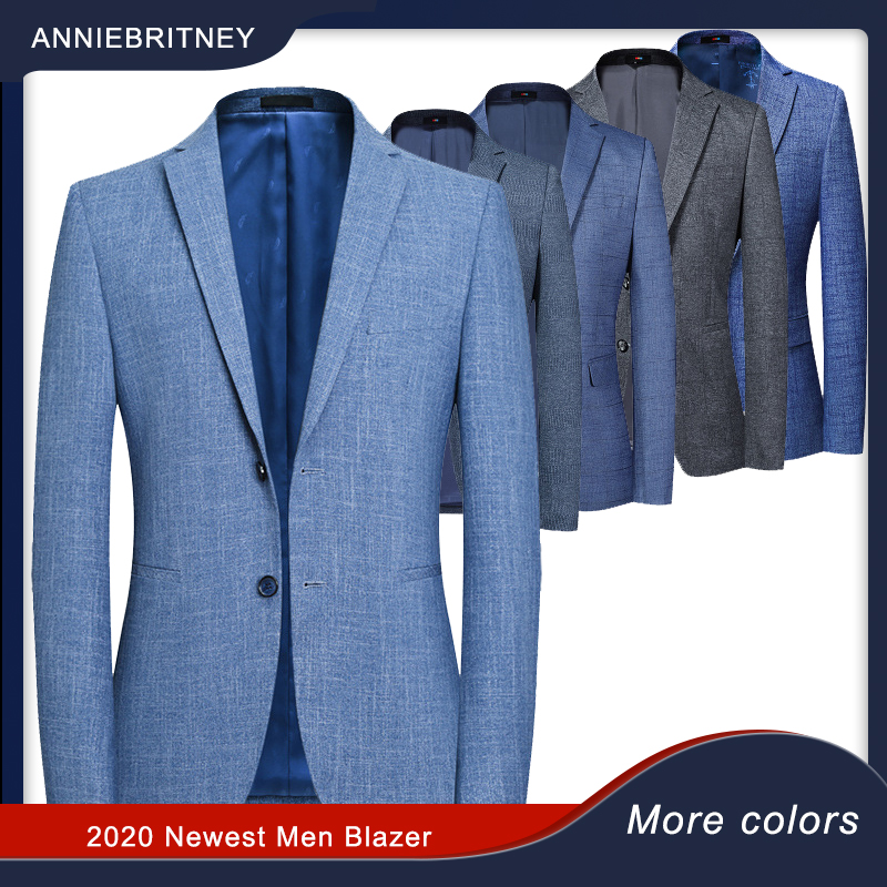 2020 Classic Gentleman Blazers British Luxury Blazer Suit Dress Jacket For Men Slim Fit Business Casual Summer Men's  Jackets