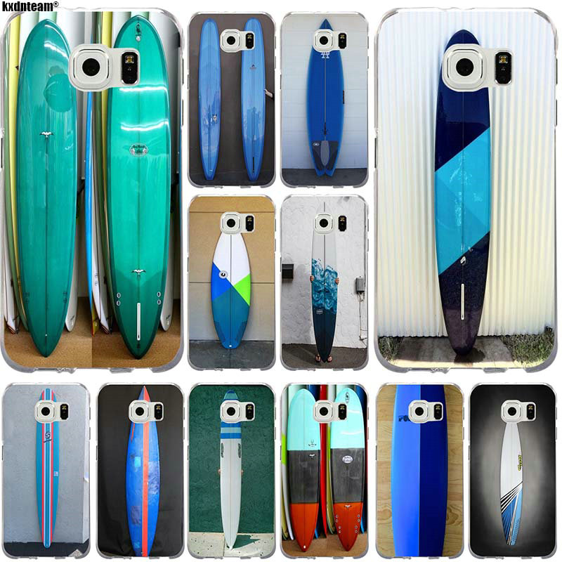 Soft TPU Silicone Phone Cases Cover for <font><b>Samsung</b></font> <font><b>Galaxy</b></font> S2 <font><b>S3</b></font> S4 S5 S6 S7 S8 S9 mini edge Plus Surf <font><b>Boards</b></font> On Blue Windsurfing image