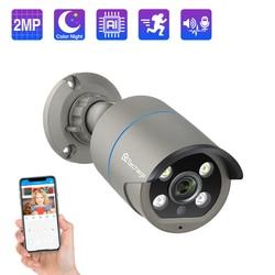 Techage H.265 1080P 48V POE IP Camera Two-Way Audio AI Human Detected 2MP IP Camera Onvif Waterproof CCTV Video Surveillance POE