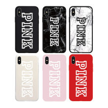 Brand NEW Logo PINK Fashion Soft Case for iPhone 11 11Pro 11ProMax X Xs XR XsMax 8Plus 8 7Plus 7 6 6s Plus 5 5s SE Phone Cover(China)