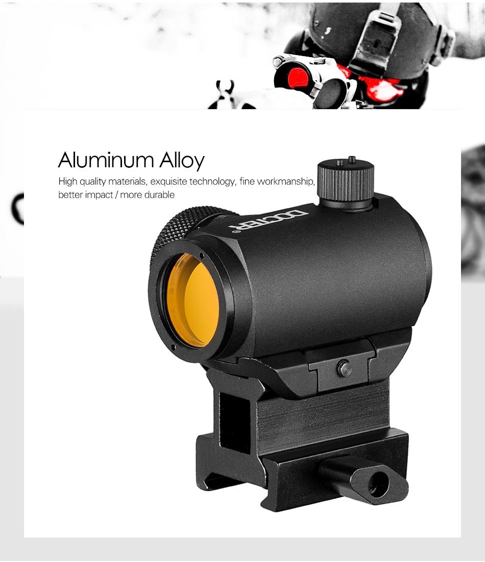 Mini 1x24 rifescope vista iluminado sniper vermelho