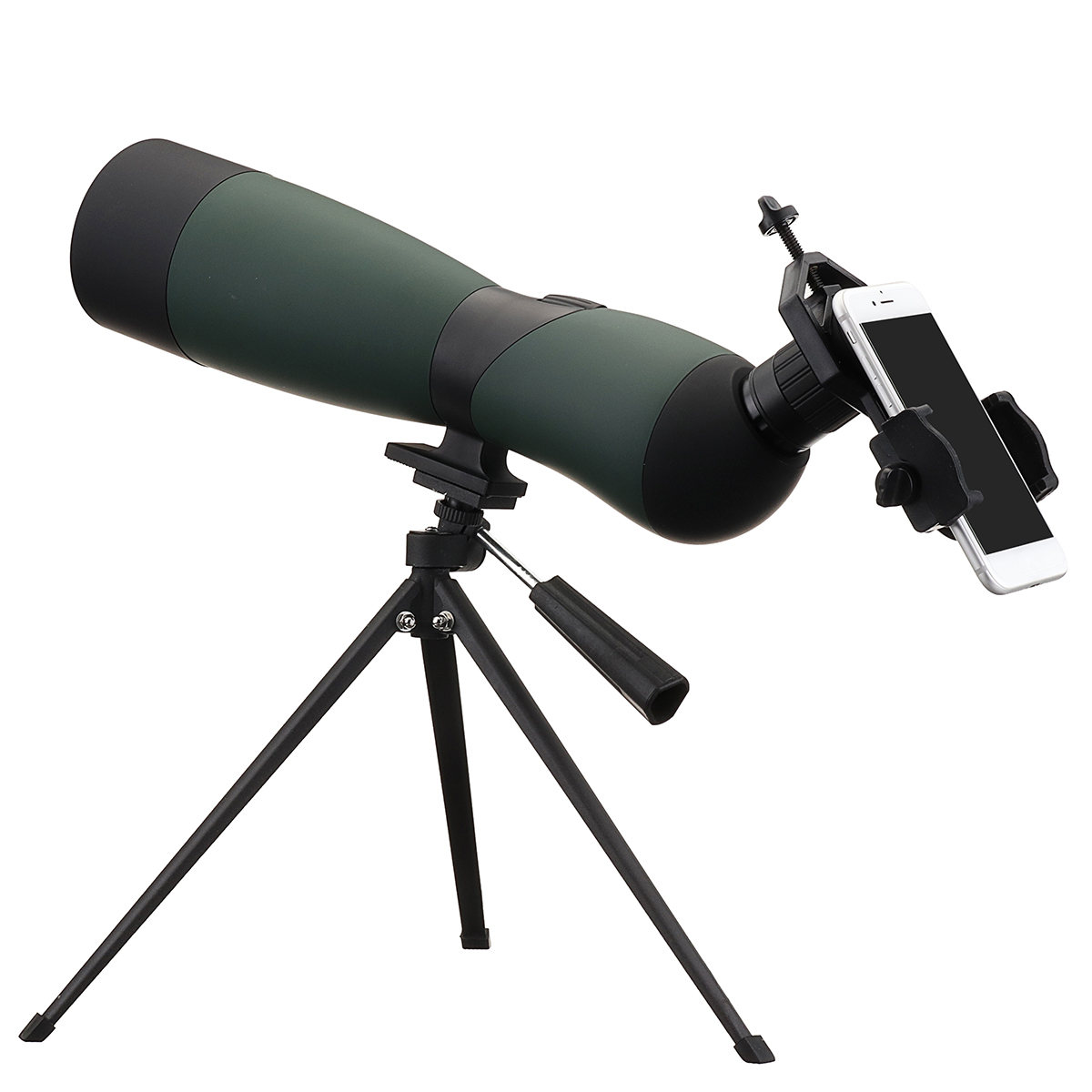 25-75x70 HD Lens Monocular Telescope Tripod CellPhone Clip Night Vision Outdoor Waterproof Telescopes