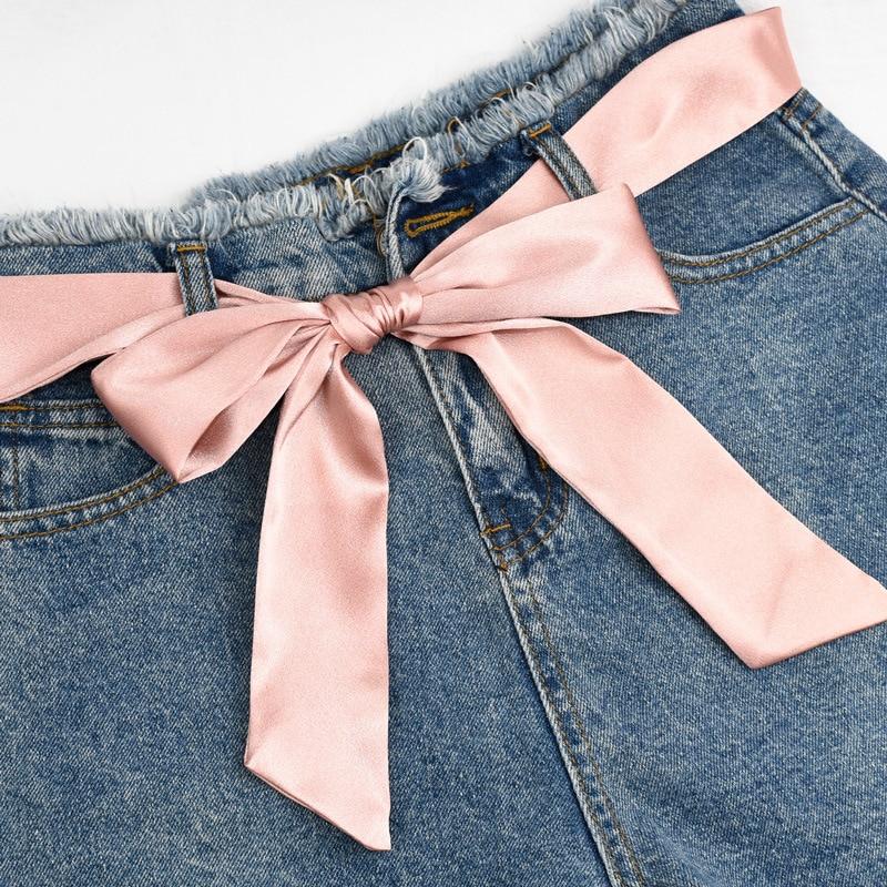 Waist Art Designer High Quality Woman 5cm Wide Silk Decorative Waistband Bow Tie Girl Dress Pants Accessories Chain Belt