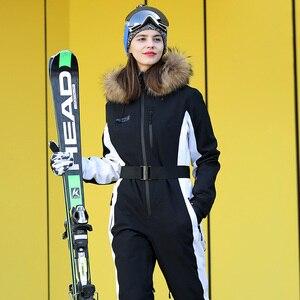 Image 4 - 実行している川ブランド防水ジャケットの女性のスキースーツ女性のスキースノーボードジャケット女性スノーボードセット服 # N9470