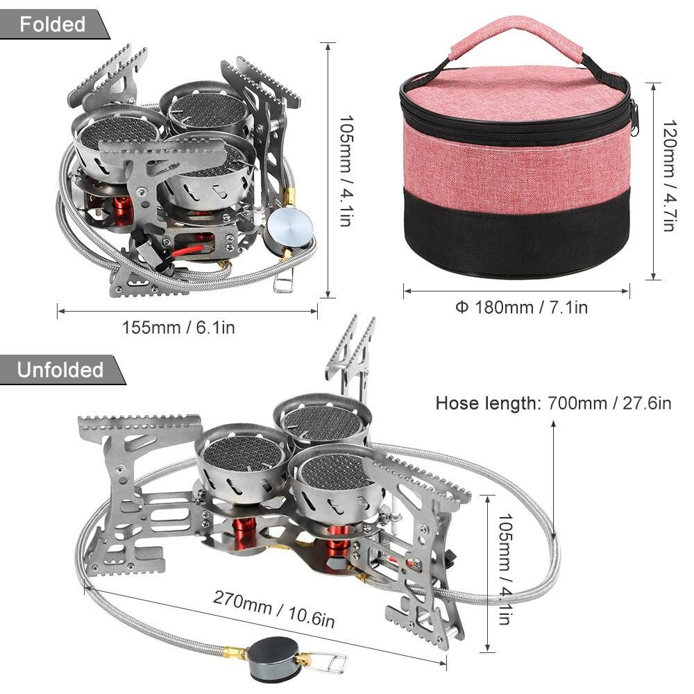 Lixada 8000 Вт портативная газовая плита наружная ветрозащитная походная горелка для кемпинга оборудование для походов путешествия - 5