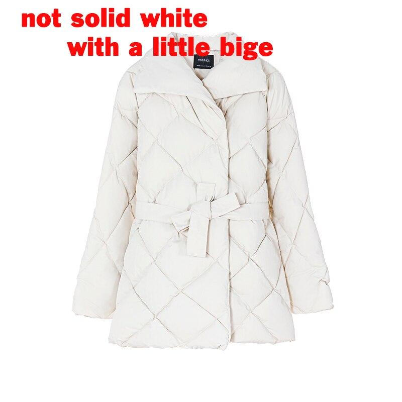 Toppies Autumn Winter Coat Women Puffer Jacket Korean Ladies Parkas Belt Cotton padded Outwear