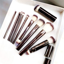 Hourglass Makeup Brushes Set - 10-pcs Powder Blush Eyeshadow Crease Concealer eyeLiner Smudger Metal Handle Brushes