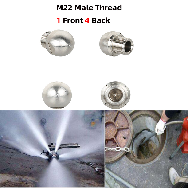 Cleaning Pressure Washer Drain Sewer Nozzle Jet Spray Tips Cleaning Nozzles YG