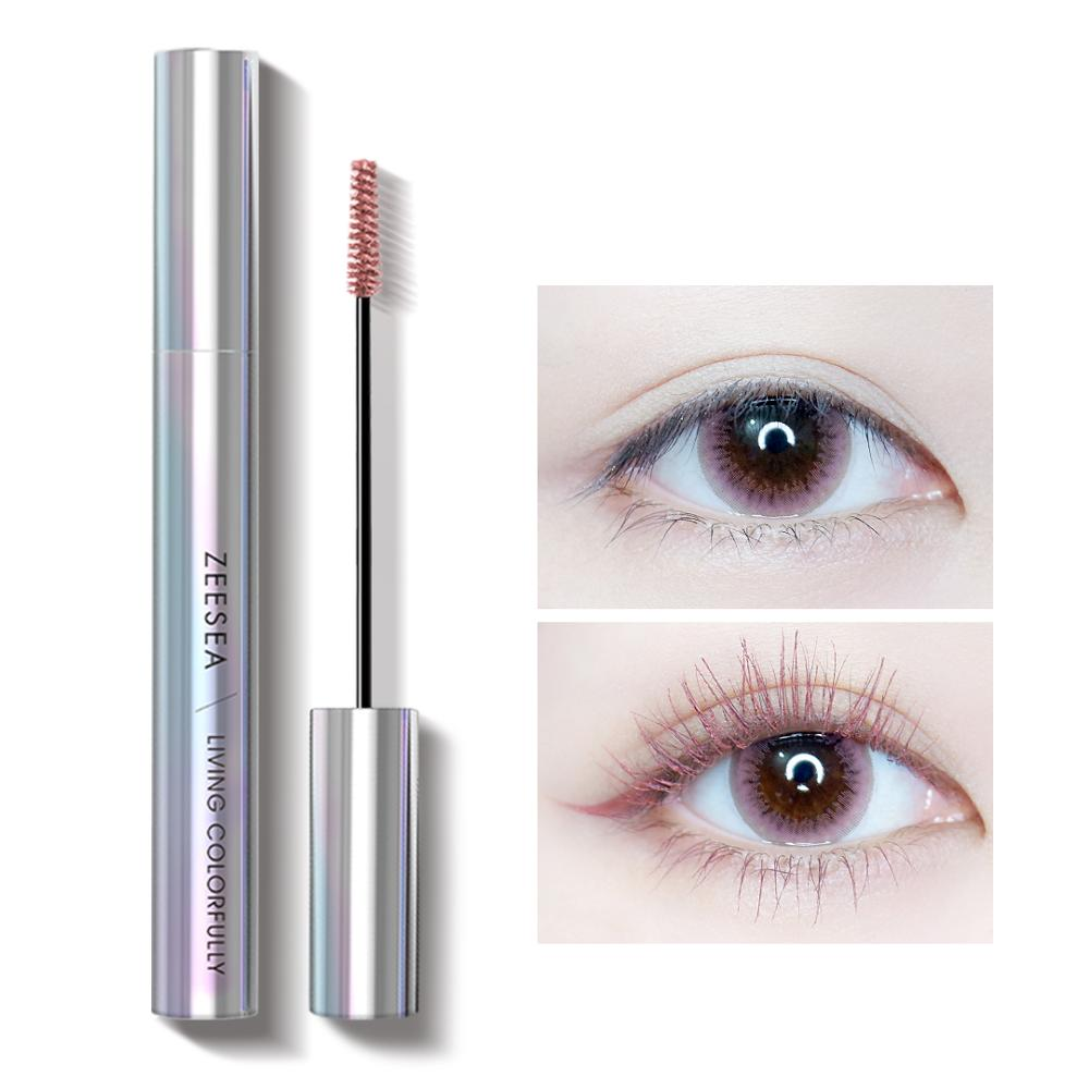 ZEESEA New 9 Colors Mascara Shine Colourful Curling Waterproof Fast Dry Eyelash Extension Cosmetics Makeup