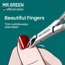 MR.GREEN Cuticle Nippers Nail Manicure Cuticle Scissors Clippers Trimmer Dead Skin Remover Pedicure Stainless Steel Cutters Tool