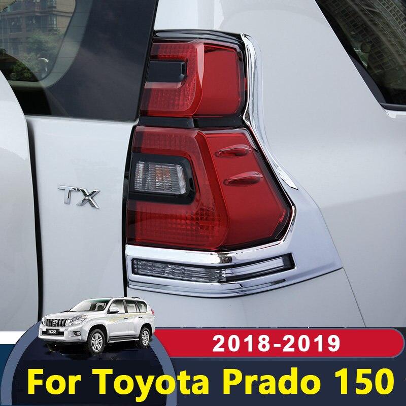 Pour Toyota Land Cruiser Prado 150 2018 2019 accessoires extérieurs Chrome voiture arrière cadre d'immatriculation plaque couvercle garniture Protection cas