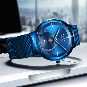 Image 5 - 2020 Watch Women And Men Watch LIGE Top Brand Luxury Ladies Mesh Belt Ultra thin Watch Waterproof Quartz Wrist watch Reloj Mujer