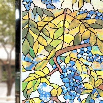 WXSHSH pellicola per vetri decorativa per vetri satinata pellicola per vetri statica macchiata adesivi per vetri oscuranti in vinile per la casa dimensioni Multiple