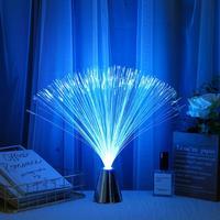 Nueva fibra óptica Flor de Luz cielo estrellado en forma de colorido LED atmósfera de Festival noche luces de fiesta de San Valentín, boda, decoración del hogar
