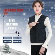 Mężczyźni jesienno-zimowa inteligentne ogrzewanie kamizelka bawełniana USB podczerwieni elektryczna kamizelka grzewcza kobiety na zewnątrz elastyczna termiczna kurtka zimowa tanie tanio Aiwetin CN (pochodzenie) COTTON zipper Vest GC1101 NONE Stałe Krótki Luźne O-neck Kurtki płaszcze Na co dzień