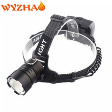 Headlamp Zoom LED Fishing Head lamp Camping Headlight XHP70 Headlamp Flashlight USB charging input and output ZOOM  Head lights