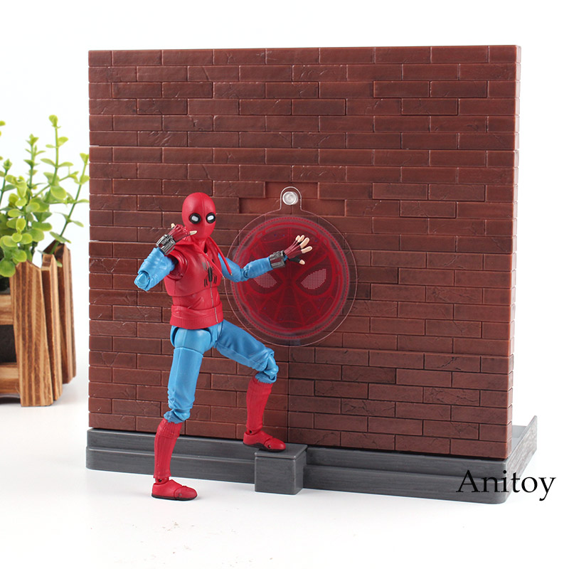 SHF Spiderman Homecoming Figure Spider-man Home Made Suit Ver. PVC Marvel Spider Man Figuarts Colllection Model Toy image