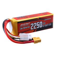 Sunpadow 3S 11.1V Lipo Battery 2250mAh 60C 70C with XT60 Plug for RC Airplane Quadcopter Helicopter Racing Hobby