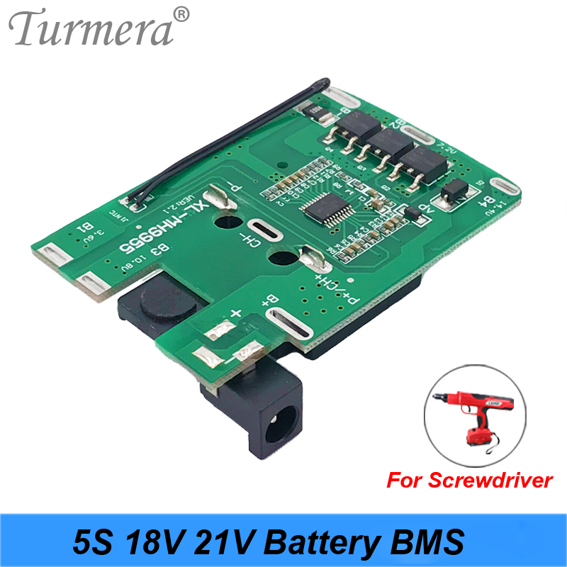 5S 18v 21v 20A 18650 Li-ion Lithium Battery BMS For Screwdriver Shura Charger Protection Board Fit For Dewalt