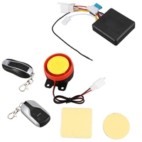 Remote Control Alarm Motorcycle Security System Motorcycle Theft Protection Bike Moto Scooter Motor Alarm System(Black)