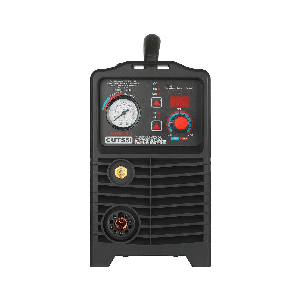 CNC IGBT Nicht-HF Pilot Arc CUT55i Digital Control Plasma Cutter Dual Spannung 120 V/240 V, schneiden maschine Arbeit mit CNC tisch