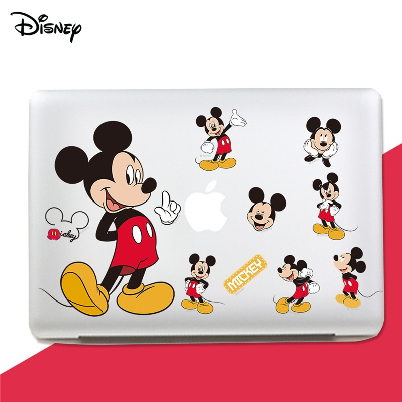 Disney Mickey Mouse Wall Poster Waterproof Sticker For Cup Car Laptop Guitar Luggage Baby's Room Decorate DIY Toys For Children