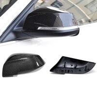 2X100% Real da Fibra do Carbono Espelho Retrovisor Capa Para Substituir BMW X1 E84 & 1-4 Série F20 F22 F23 F30 F31 F34 F32 F33 F36