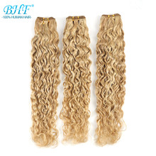 Hair-Weft Human-Hair Piano-Color Curly Natural BHF Remy Double-Weft-Sew 100g/Pack-Machine