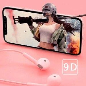 Image 5 - JTKE – écouteurs intra auriculaires couleur Macaron, 3.5mm, HIFI, oreillettes de dessin animé, avec micro, pour Iphone Xiaomi Huawei