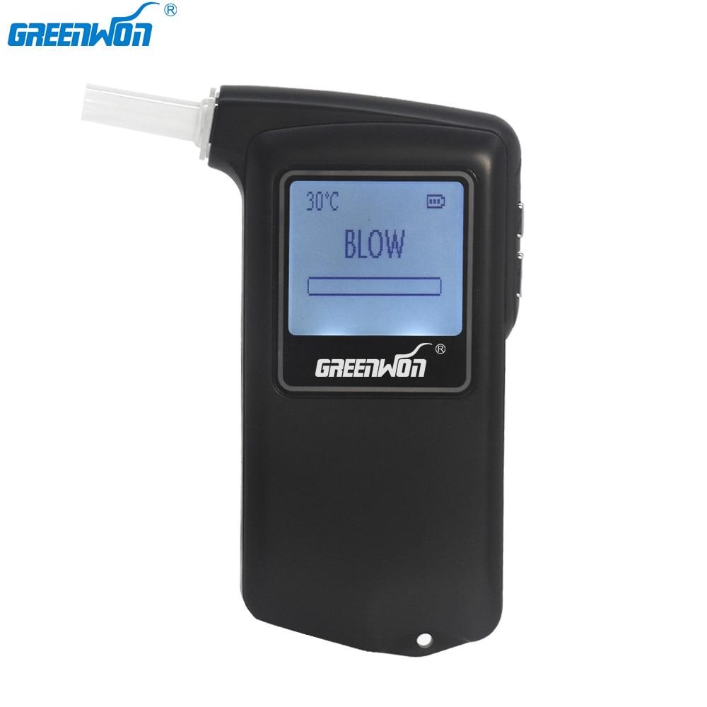 GREENWON capteur de pile à combustible testeur d'alcoolémie certifié brevet alcootest cadeau promotionnel lecteur de sécurité numérique