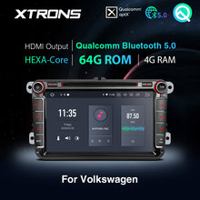 XTRONS – autoradio PX6, lecteur DVD, Bluetooth 5.0, Android 10.0, Qualcomm, stéréo, pour VW Golf, Passat, Touran, Tiguan, Skoda, Seat