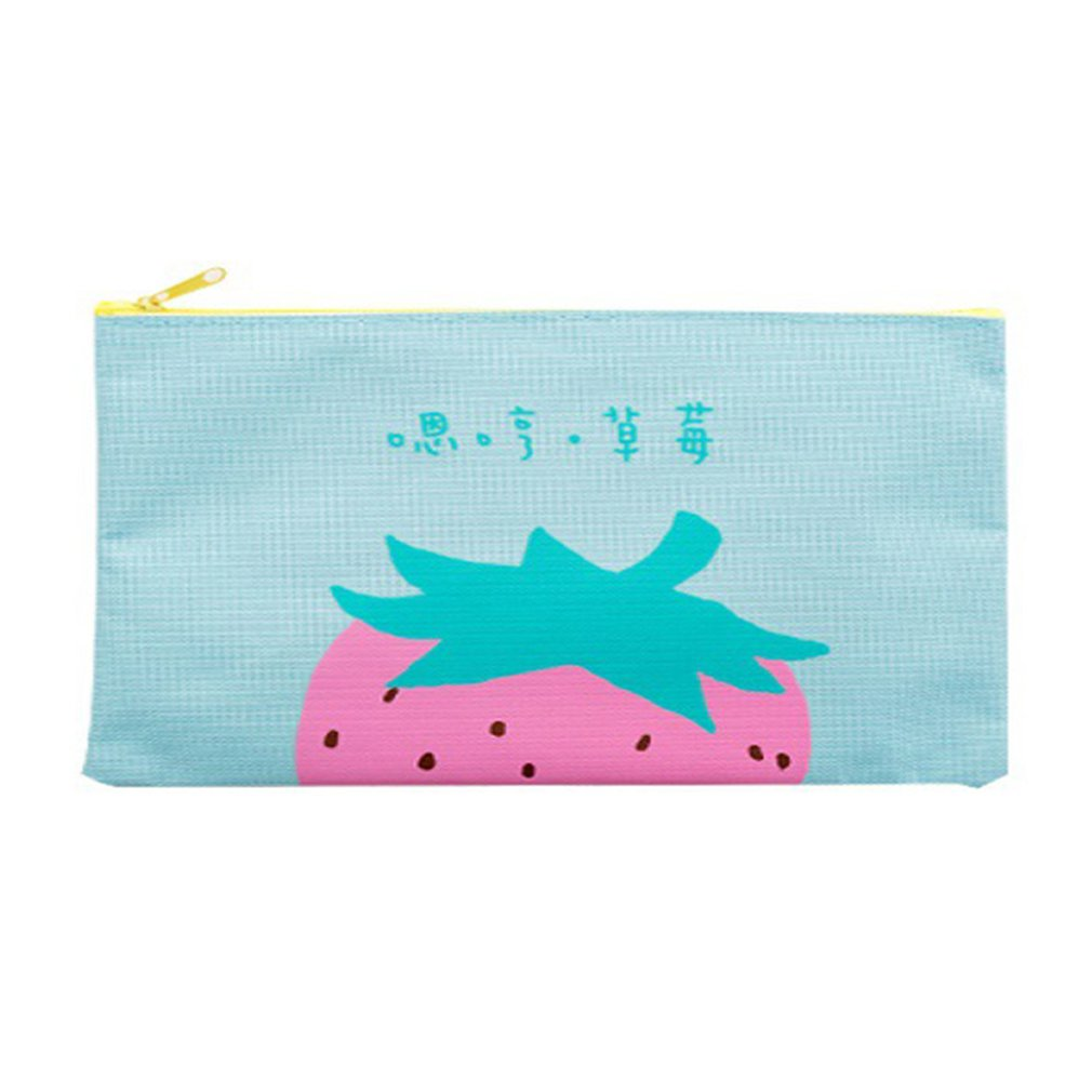 Document Bag Bill Zipper Cute Student Canvas Tutorial Bag Stationery Storage Clip Pen Bag School Office Supplies Organizer Bag