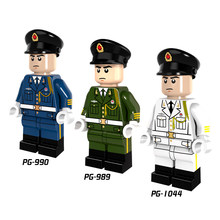Single Sale Guard of honour army navy Ground Land force air force Marine Corps Building Block Toy gift Compatible Legoed Ninjaed(China)
