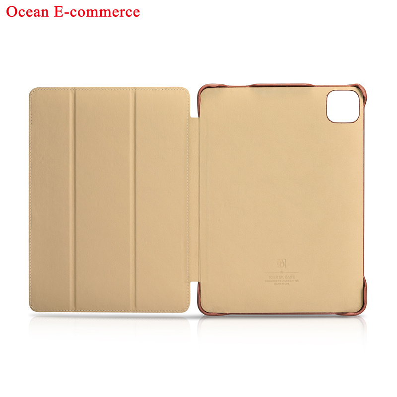 Original ICARER Luxury Genuine Leather Case For Apple iPad Pro 11 2020 Vintage Protective Magnet Smart