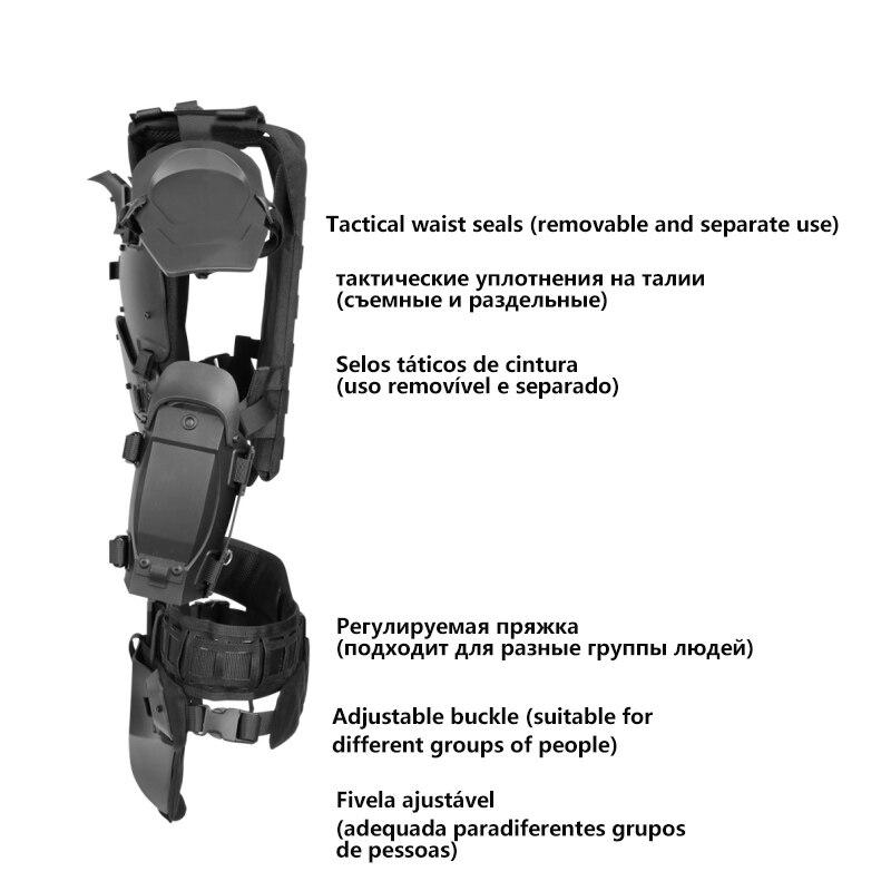 Image 5 - 戦術的な軽量軍鎧ギアセット屋外多機能調節可能な狩猟肘パッドウエストシールエアガンペイントボール狩猟ベスト   -