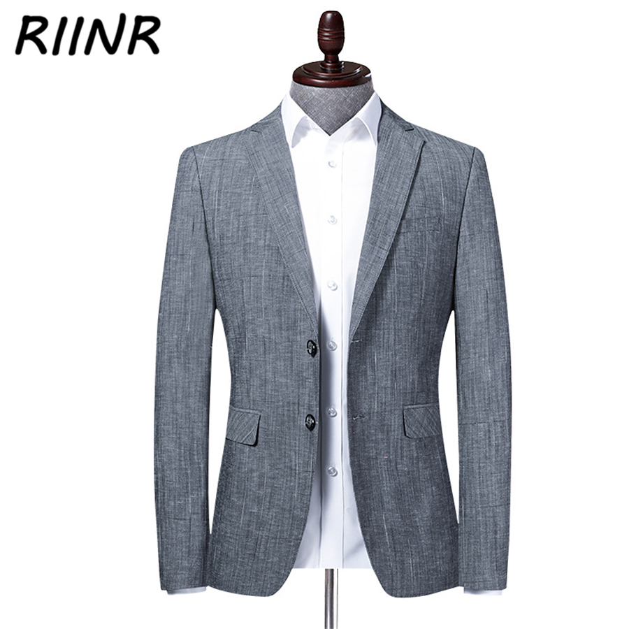 Riinr Spring Autumn Brand Men Blazer Fashion Slim Suit Business  Clothing High Quality Men's Suit M-4XL